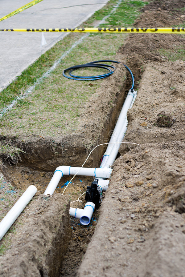 Irrigation System Installation Stock Image Image Of