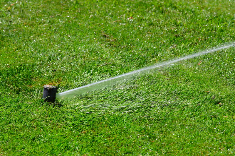Download Irrigation System Throwing Water Stock Image - Image: 10361923
