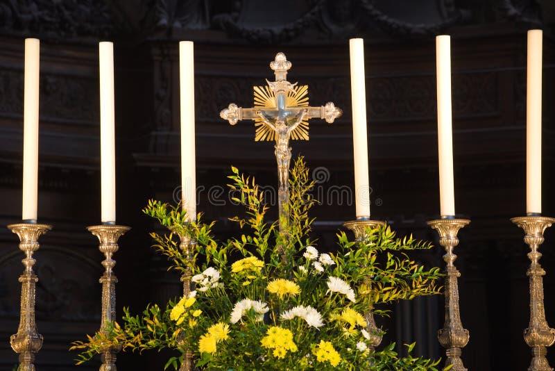 Irrita o detalhe do altar da catedral foto de stock royalty free