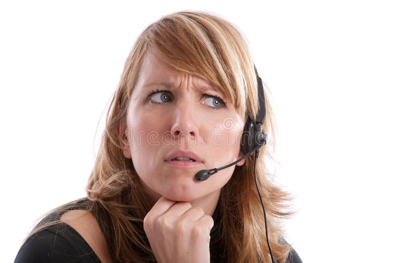 Download Irritated receptionist stock image. Image of white, angry - 7871809