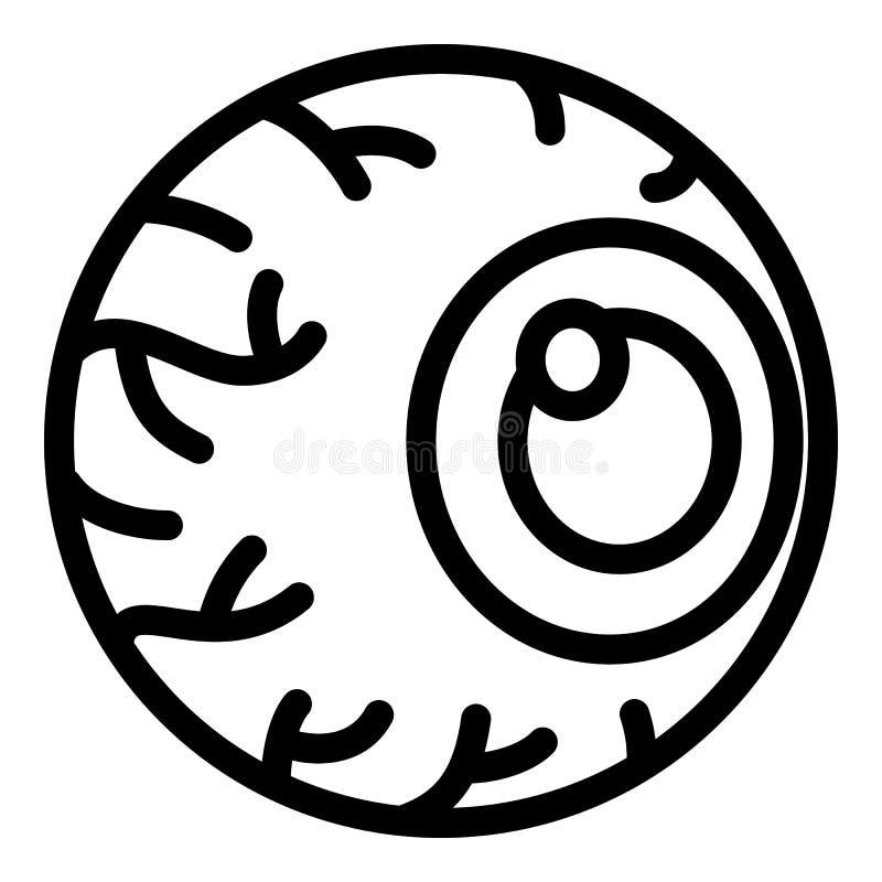Irriterad ögonsymbol, översiktsstil royaltyfri illustrationer