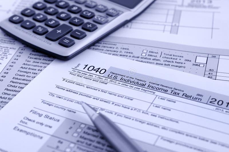 IRS 1040 fotos de stock
