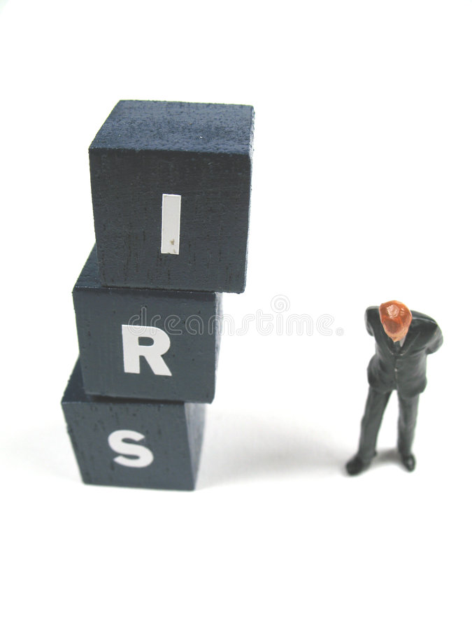 IRS. The IRS is watching you stock image