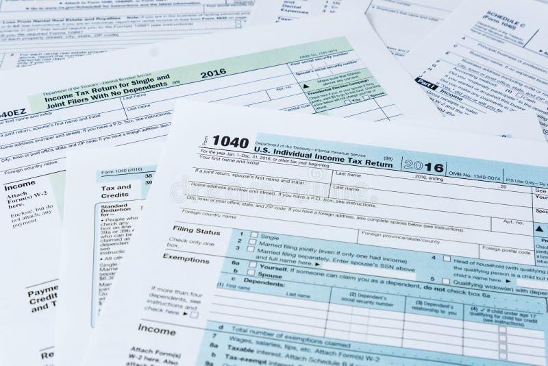 IRS Belastingsvormen stock fotografie