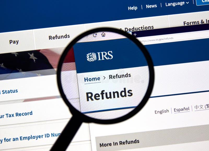 IRS de V.S. Overheidshome page royalty-vrije stock fotografie