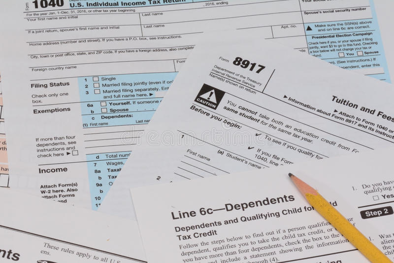 Irs And Fafsa Tax Forms Stock Image Image Of Along Deadline 82742311