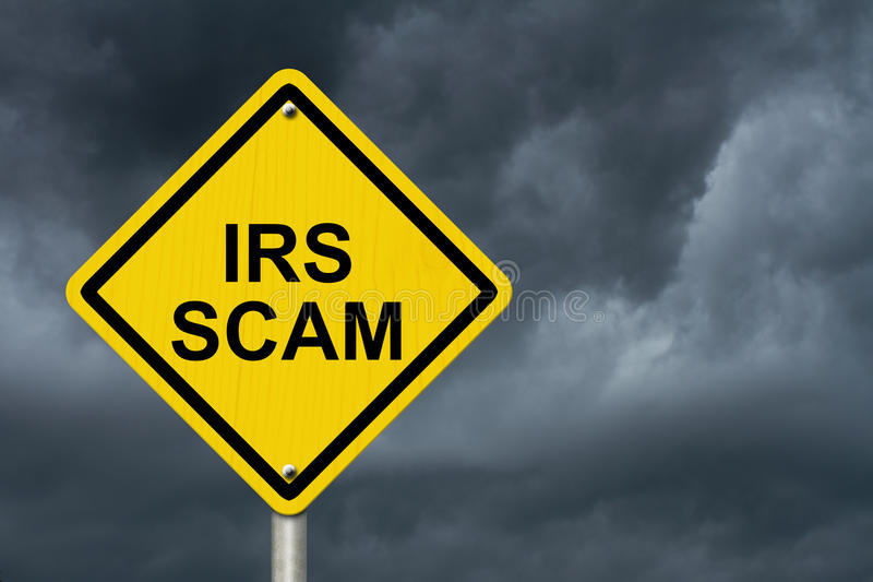 IRS Scam Warning Sign royalty free stock images