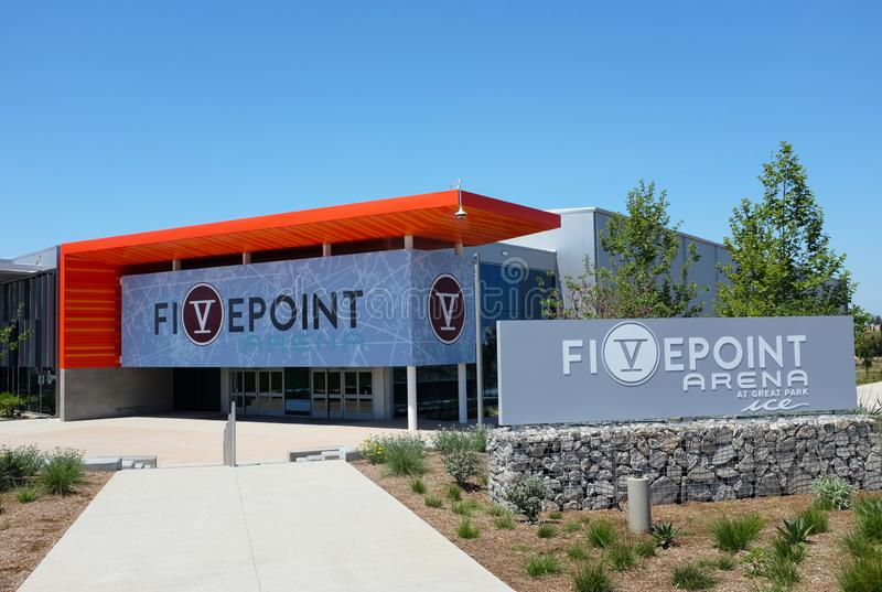 Great Park Ice and FivePoint Arena, a $110-million facility by the NHLs Anaheim Ducks royalty free stock photo