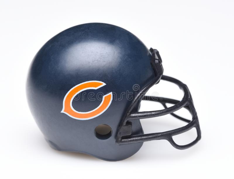 Helmet for the Chicago Bears royalty free stock photos