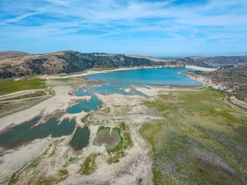 Irvine Lake Aerial photos stock