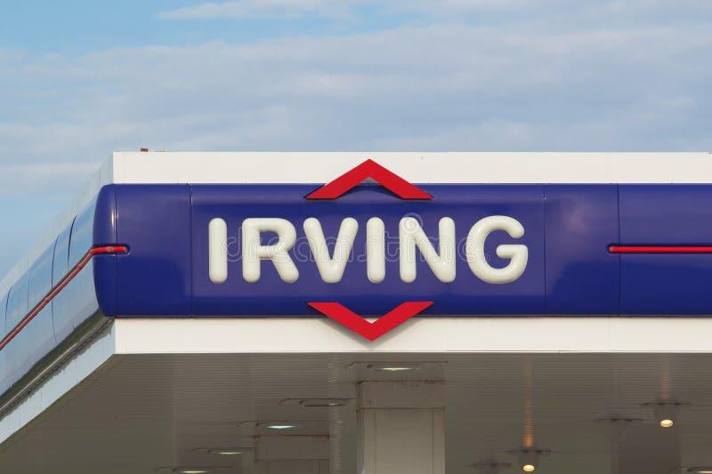 Irving Gas Station Sign imagen de archivo
