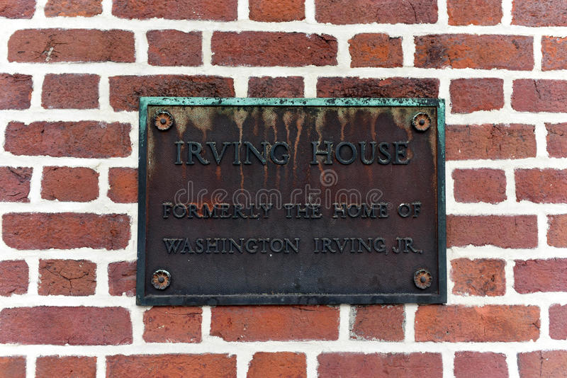 Irving House - Greenwich Village - NYC image stock