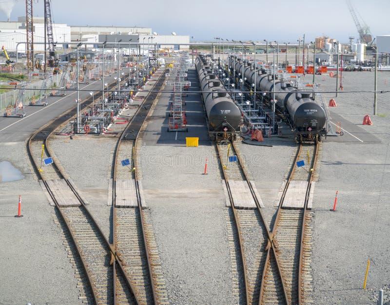 Irving Oil Rail Terminal imágenes de archivo libres de regalías