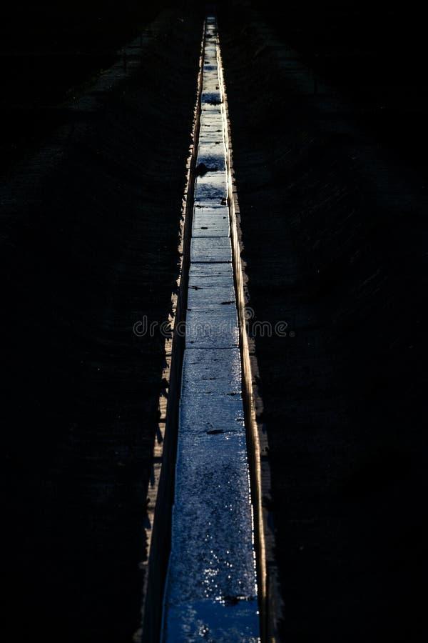 Irygacyjni kanały i półmrok zdjęcia stock