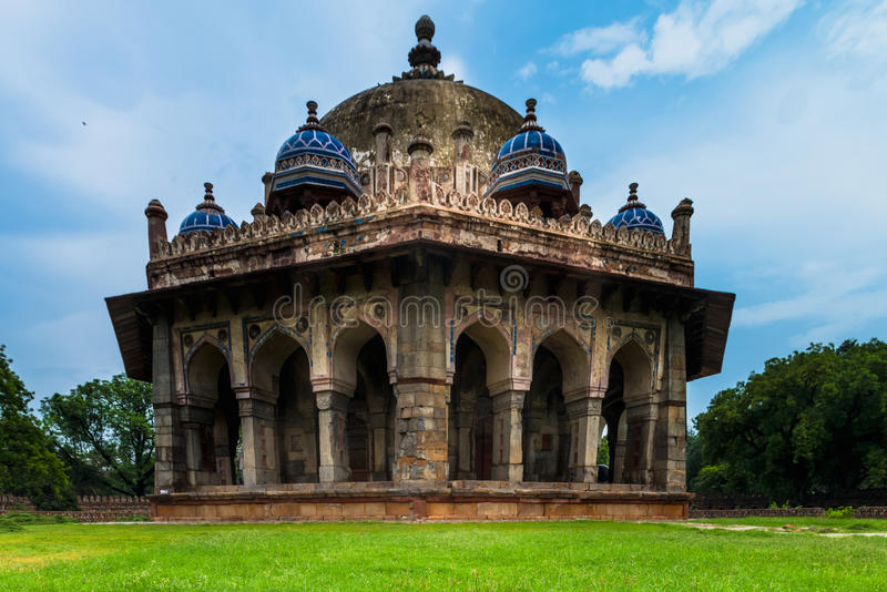 Isa Khan`s Garden Tomb. Perspective view of Isa Khan`s Garden Tomb near Humayuns Tomb, Delhi royalty free stock images