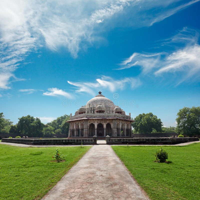 Isa Khan Tomb. In Humayun's Tomb Complex. Delhi, India royalty free stock image