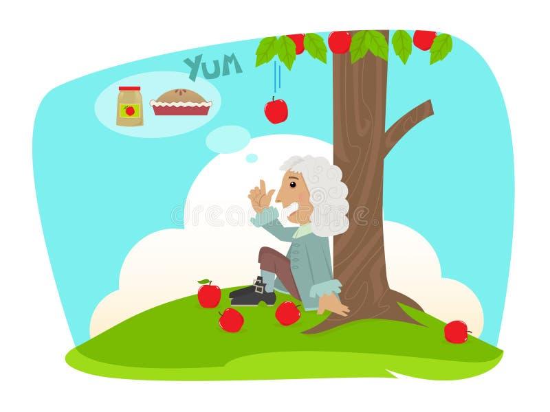 Isaac Applesauce ilustração stock