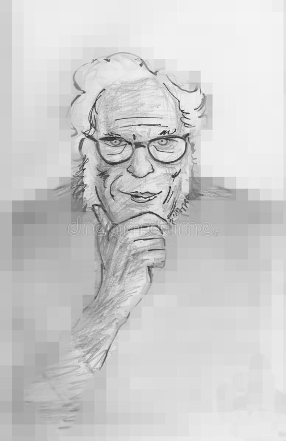 Isaac Asimov fantastyka naukowa Amerykański pisarz ilustracja wektor