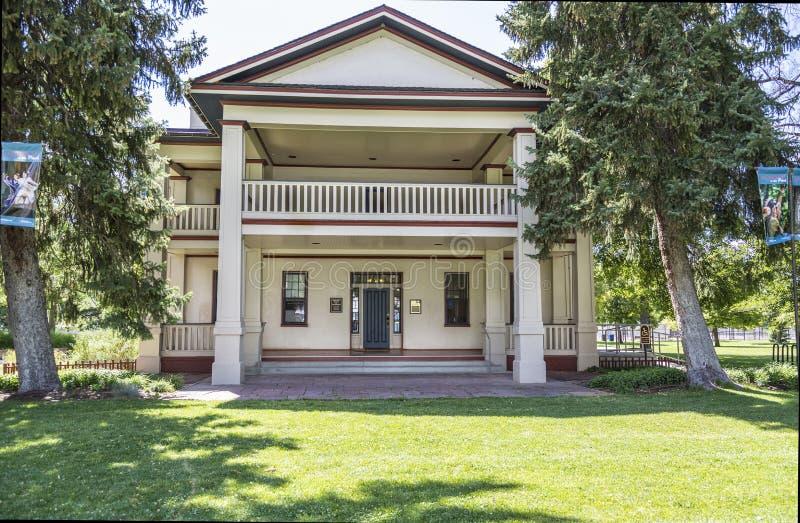 Isaac Chase Home histórico em Salt Lake City Utá imagens de stock