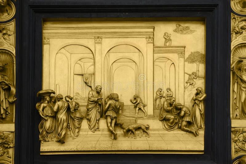 Isaac con Esau y Jacob fotografía de archivo libre de regalías