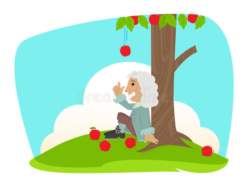 Isaac Newton royaltyfri illustrationer