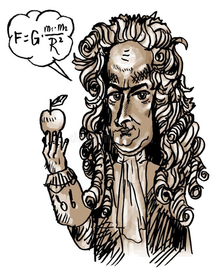 Isaac Newton (vetor) ilustração stock