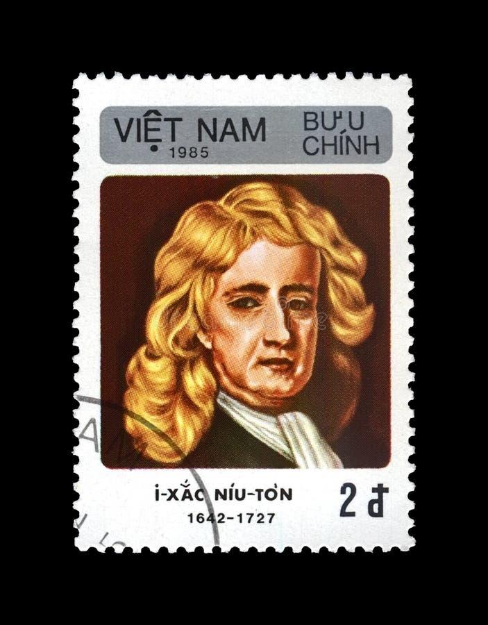 Isaac Newton, wetenschapper, ontdekkingsreiziger, wiskundige, astronoom, waarnemer, circa 1985, royalty-vrije stock fotografie