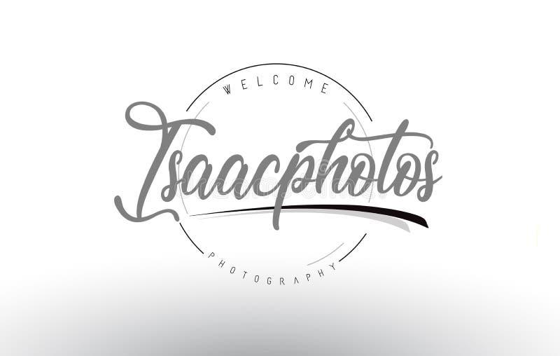 Isaac Personal Photography Logo Design com fotógrafo Name ilustração stock