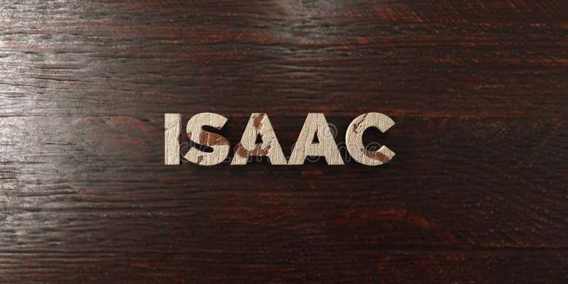 Isaac - título de madeira sujo no bordo - 3D rendeu a imagem conservada em estoque livre dos direitos ilustração do vetor