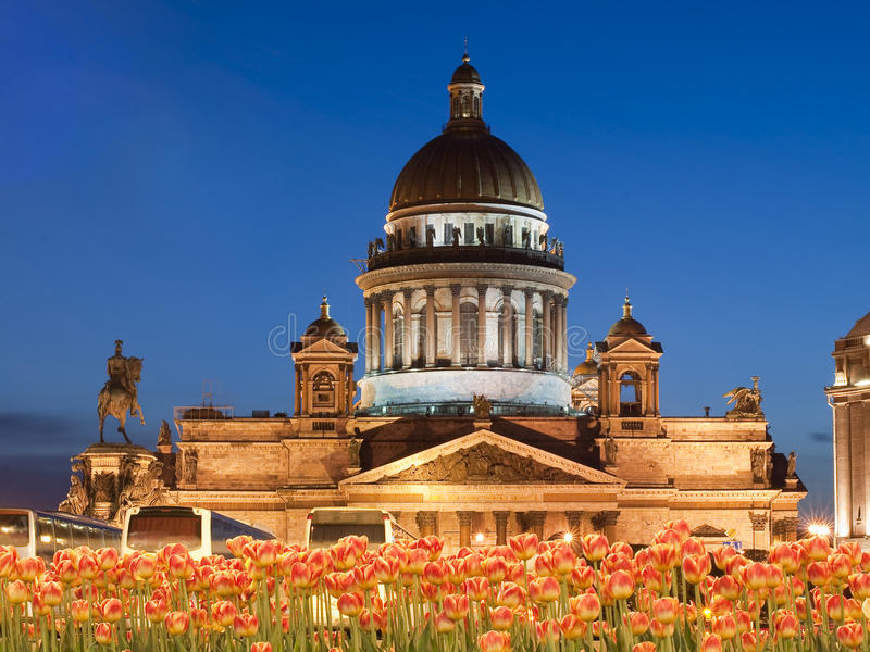 Isaakievsky cathedral in St.-Petersburg stock photos