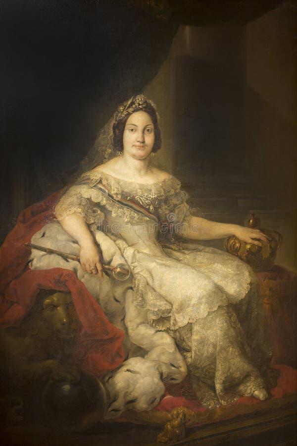 Isabel II, reina de España a partir de 1833 hasta el 1868 fotografía de archivo