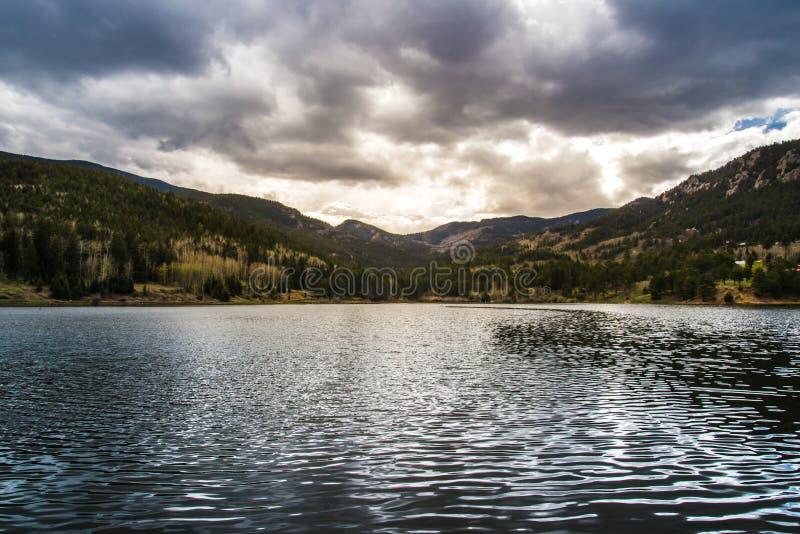 Isabel Lake Colorado Sunset royalty free stock images