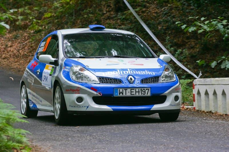 Isabel Ramos in Rallye Centro de Portogallo fotografia stock