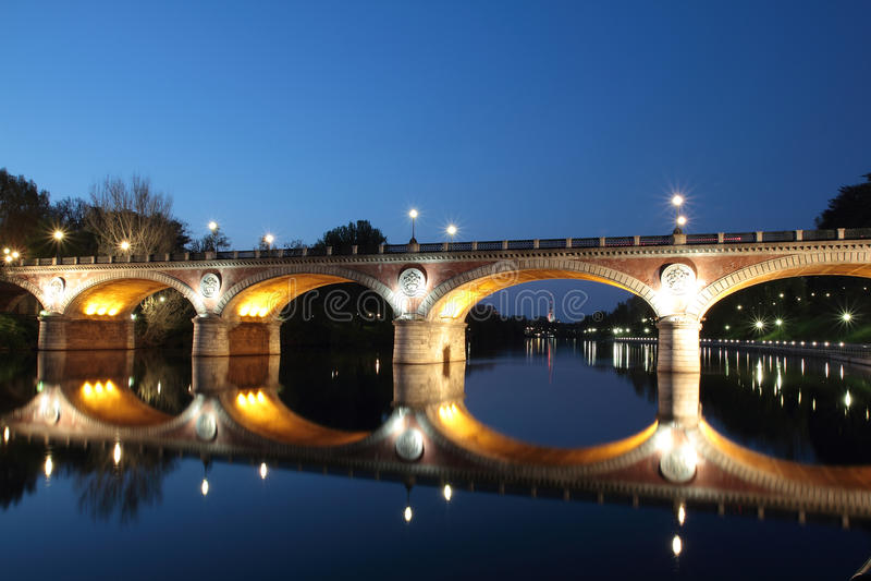 Bridge Isabella in Turin royalty free stock image