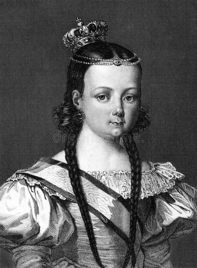 Isabella II of Spain vector illustration