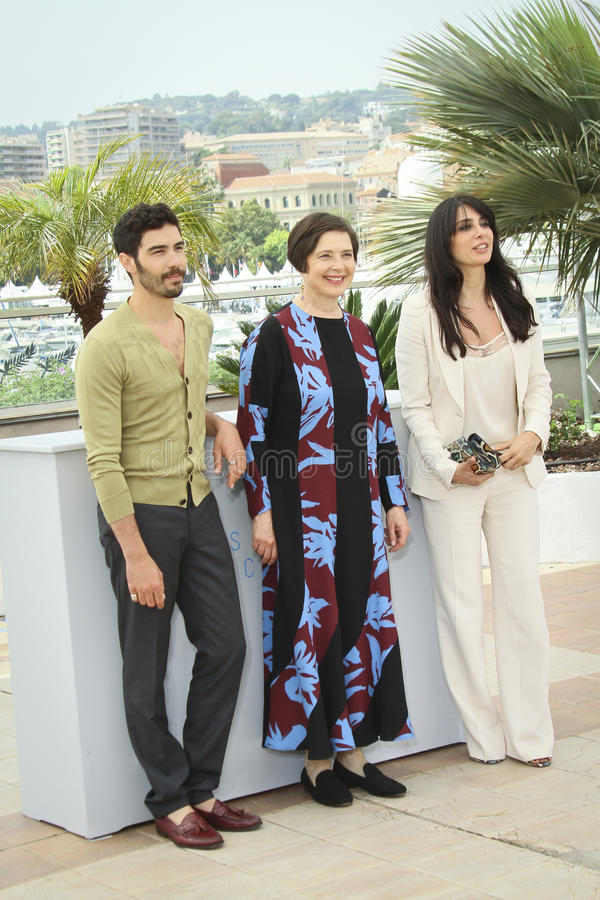 Isabella Rossellini, Nadine Labaki, Tahar Rahim immagine stock