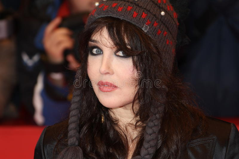 Isabelle Adjani. BERLIN - FEBRUARY 19: Actress Isabelle Adjani attends the 'Mammuth' Premiere during of the 60th Berlin International Film Festival at the royalty free stock photography
