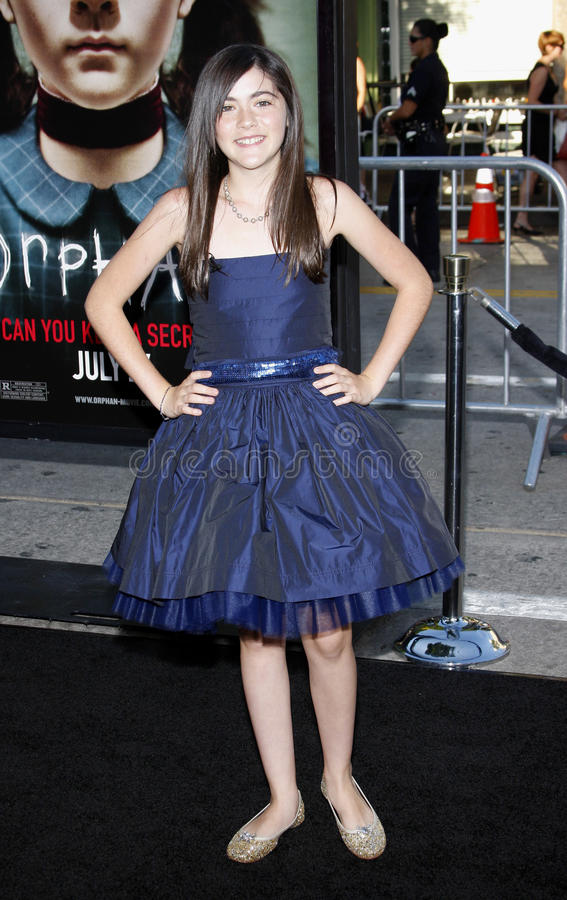 Isabelle Fuhrman. At the Los Angeles premiere of 'Orphan' held at the Mann Vilage Theater in Westwood, USA on July 21, 2009 royalty free stock photo
