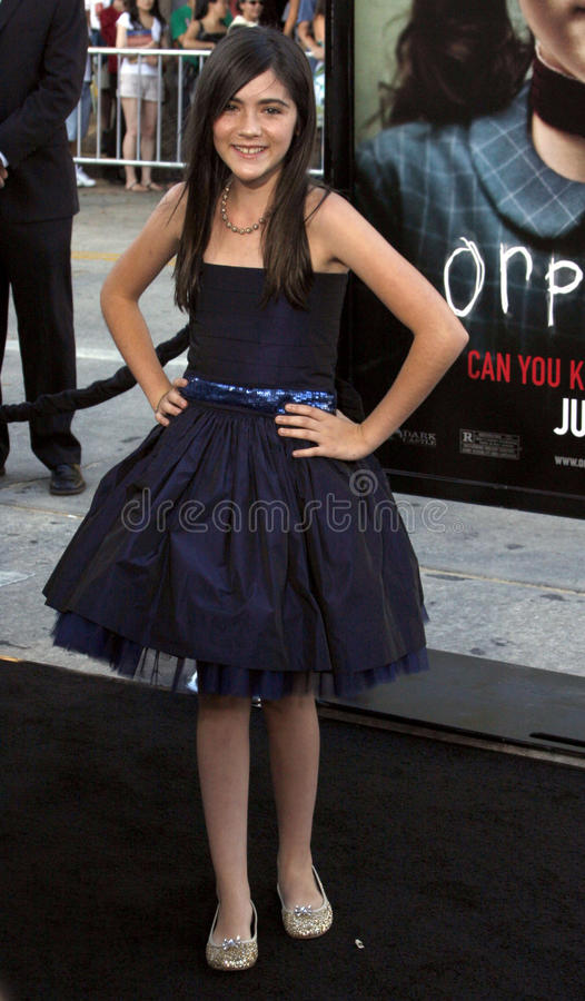 Isabelle Fuhrman. At the Los Angeles Premiere of `Orphan` held at the Mann Village Theater in Westwood, California, United States on July 21, 2009 royalty free stock photo