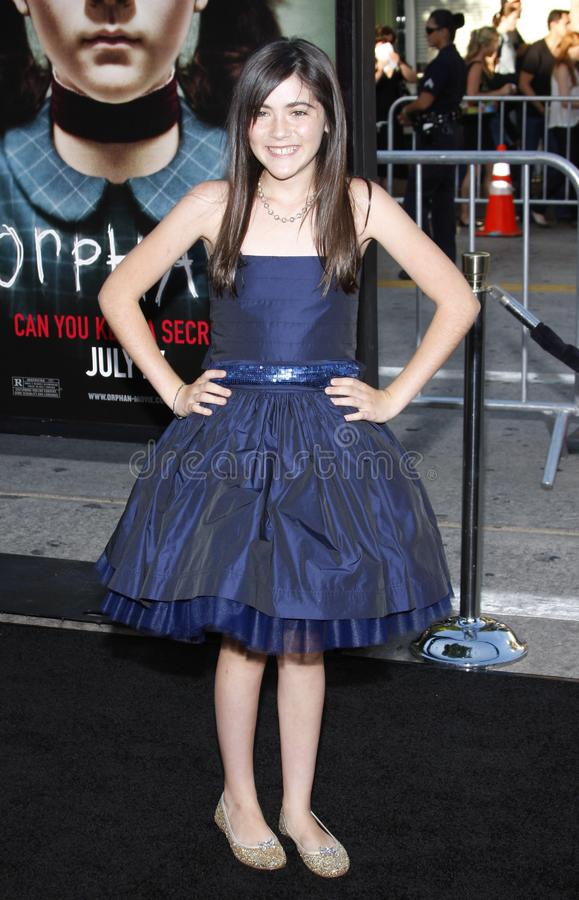 Isabelle Fuhrman. WESTWOOD, CALIFORNIA - Tuesday July 21, 2009. Isabelle Fuhrman at the Los Angeles premiere of `Orphan` held at the Mann Village Theater royalty free stock image
