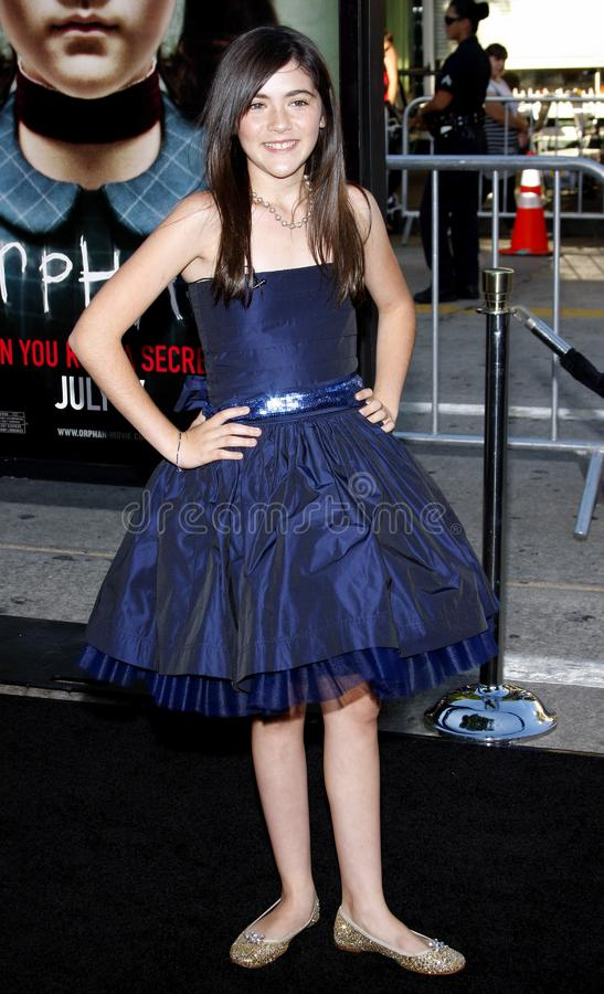 Isabelle Fuhrman. 21/7/2009 - Westwood - Isabelle Fuhrman at the Los Angeles Premiere of `Orphan` held at the Mann Village Theater in Westwood, California stock photography