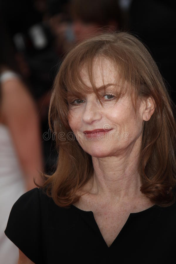 Isabelle Huppert. CANNES, FRANCE - MAY 16: Isabelle Huppert attends 'The Princess Of Montpensier' Premiere at the Palais des Festivals during the 63rd Cannes stock image