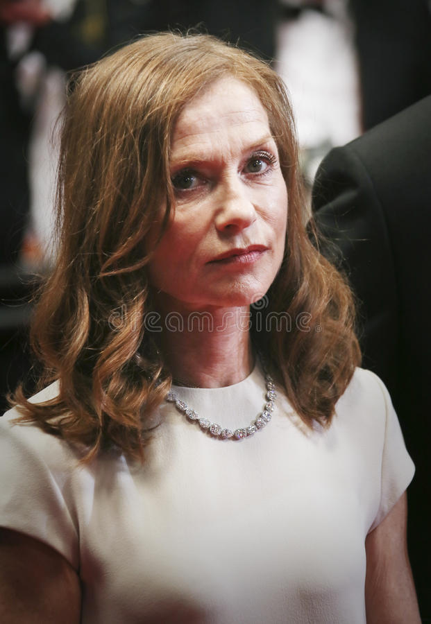 Isabelle Huppert. Actress Isabelle Huppert attends the 'Louder Than Bombs' premiere during the 68th annual Cannes Film Festival on May 18, 2015 in Cannes, France royalty free stock photos