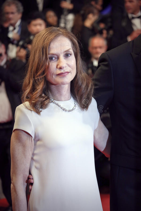 Isabelle Huppert. Actress Isabelle Huppert attends the 'Louder Than Bombs' premiere during the 68th annual Cannes Film Festival on May 18, 2015 in Cannes, France stock photography