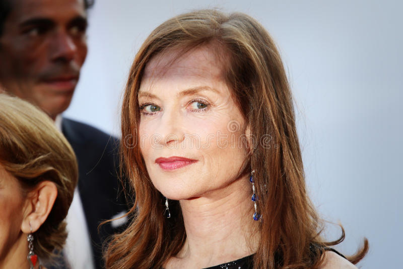 Isabelle Huppert. Attends the 'Carol' Premiere during the 68th annual Cannes Film Festival on May 17, 2015 in Cannes, France royalty free stock photography