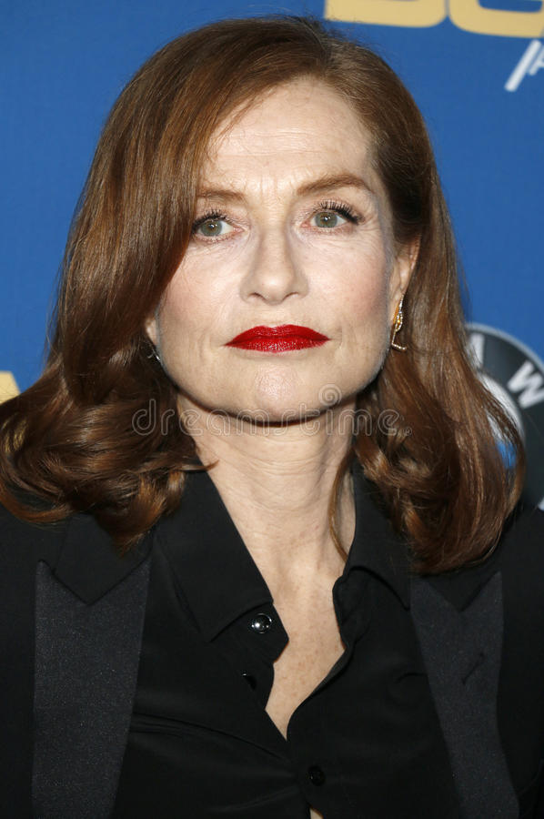 Isabelle Huppert. At the 69th Annual Directors Guild Of America Awards held at the Beverly Hilton Hotel in Beverly Hills, USA on February 4, 2017 stock photo