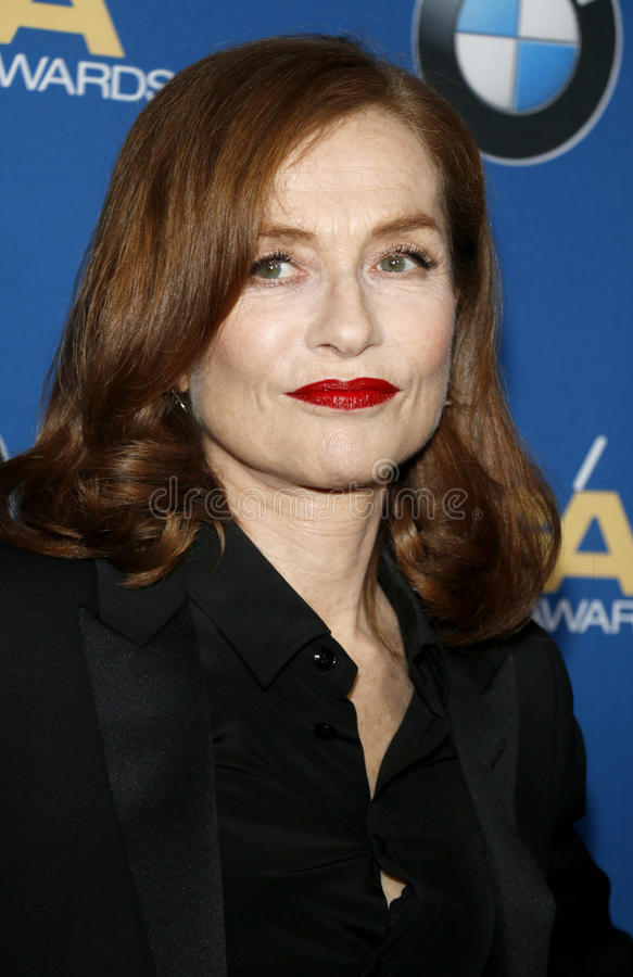 Isabelle Huppert. At the 69th Annual Directors Guild Of America Awards held at the Beverly Hilton Hotel in Beverly Hills, USA on February 4, 2017 royalty free stock photos
