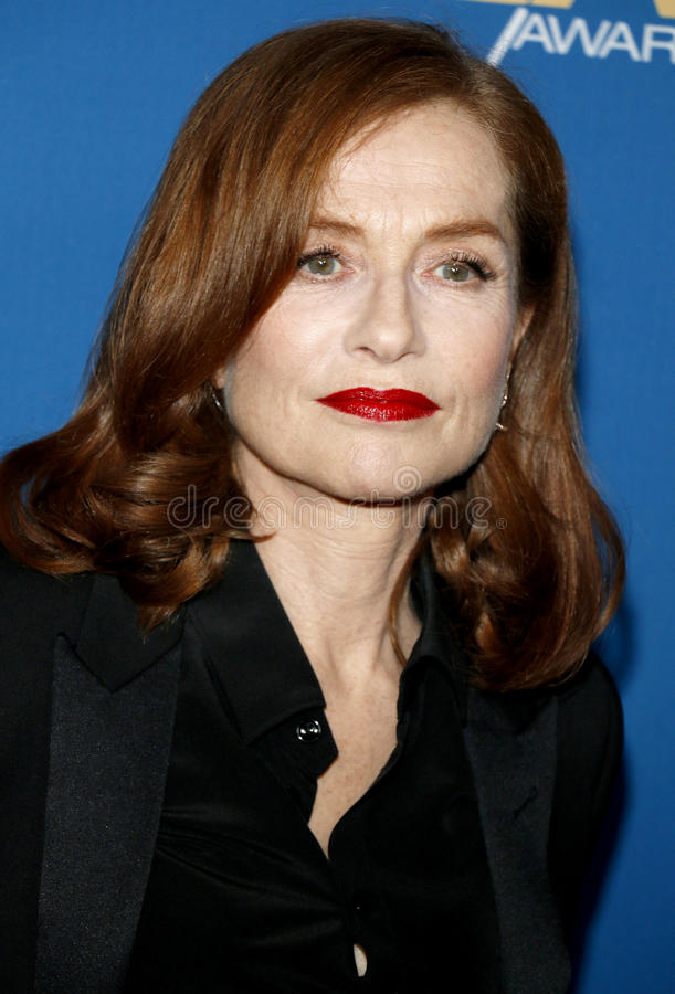 Isabelle Huppert. At the 69th Annual Directors Guild Of America Awards held at the Beverly Hilton Hotel in Beverly Hills, USA on February 4, 2017 royalty free stock image