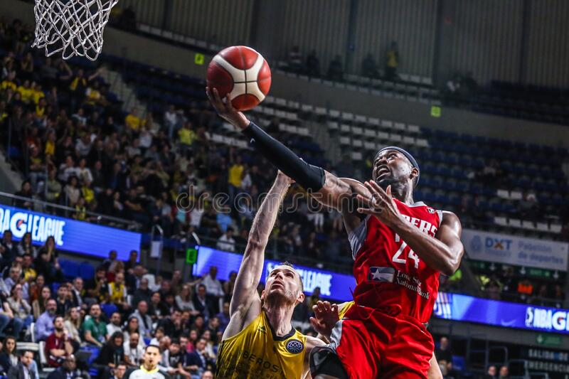 FIBA Intercontinental Cup Iberostar Tenerife vs Rio Grande Valley Vipers royalty free stock photography