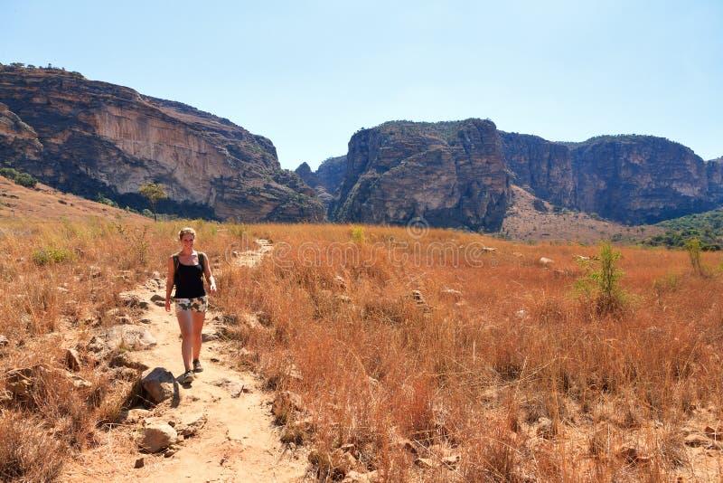 Isalo canyon hike stock images